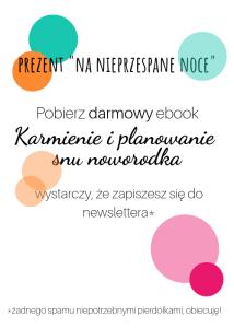 grafika ebook karmienie i planowanie snu noworodka