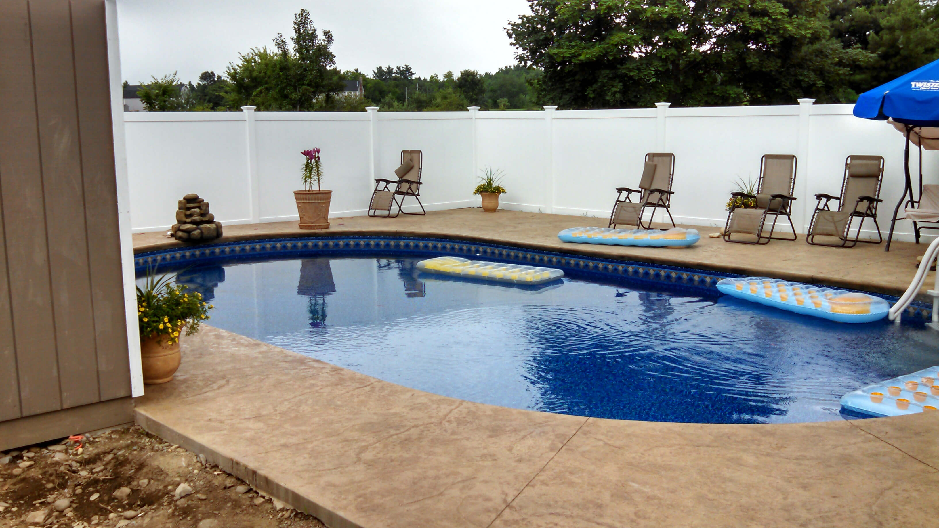 Groton MA Oval Inground Swimming Pool Installation