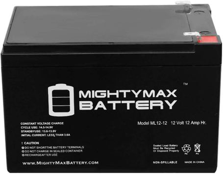Mighty Max ML12 12V 12Ah AGM Deep Cycle Battery
