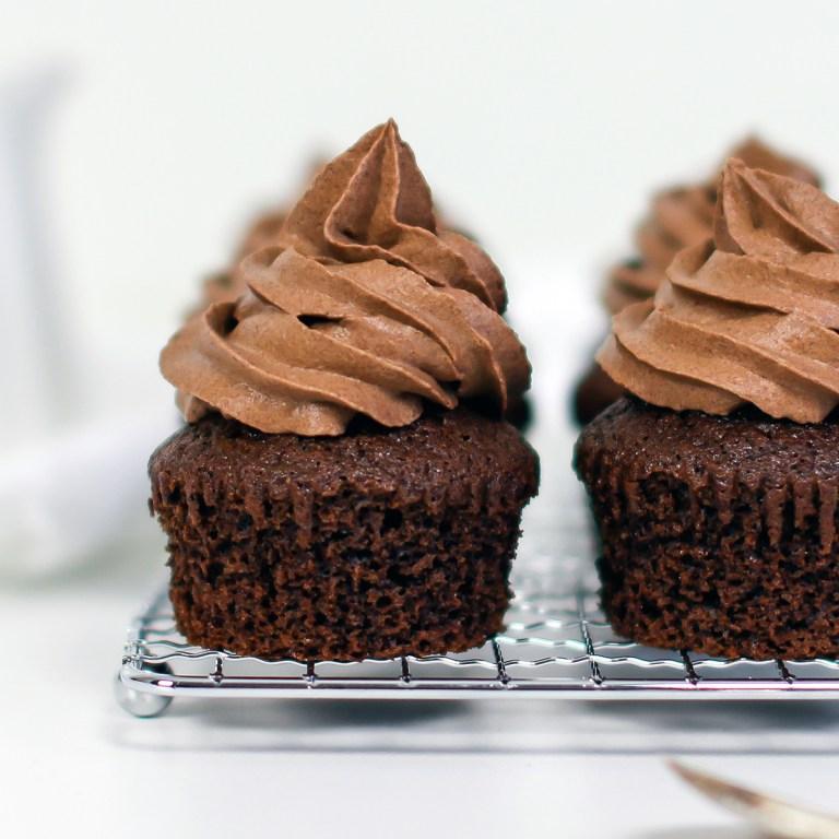 muffins med sjokoladekrem