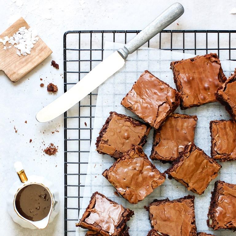 brownies i liten langpanne