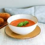 tomatsuppe - hjemmelaget med gulrot og linser