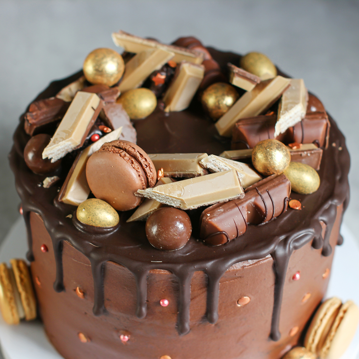 pynt sjokoladekake