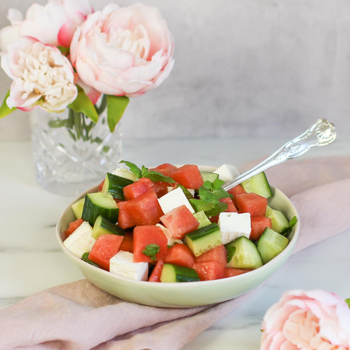 vannmelonsalat med fetaost