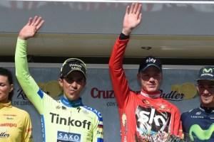 Chris Froome beats Alberto Contador
