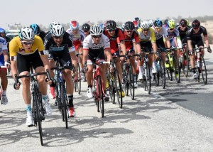 Niki Terpstra leading the Tour of Qatar