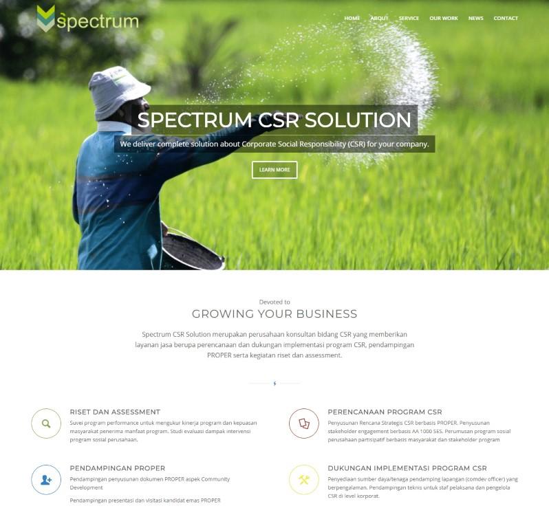 Perusahaan Spectrum CSR Solution - matob creative studio - jasa bikin website berkualitas