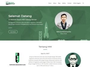 jasa pembuatan website organisasi HMI cabang Sleman