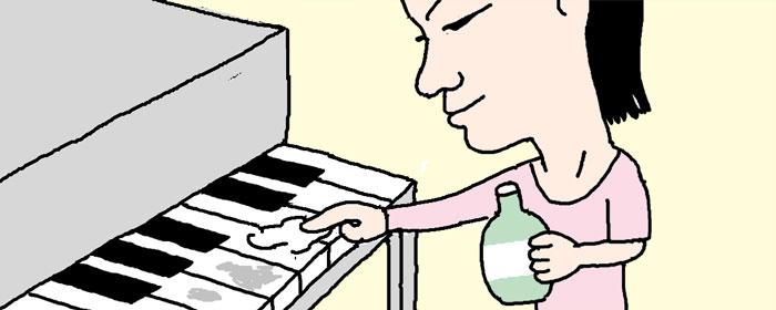 ピアノの鍵盤の光沢を出すには