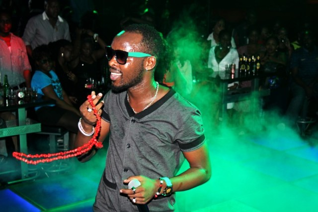 Eddy Kenzo performing. He says he earns lots of money for his shows abroad.