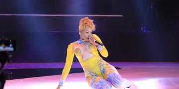 Sheebah Karungi performing.