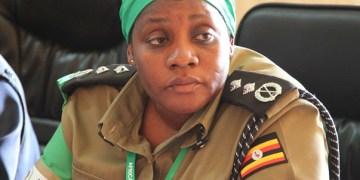 AMISOM Deputy Police commissioner, Christine Alalo in Kismayo, Somalia,  for Somali Police Force capacity building in Jubbaland. On July25, 2015. AMISOM Photo/ Awil Abukar