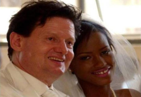 Esther on her wedding day last year. She divorced her husband after a couple of months.