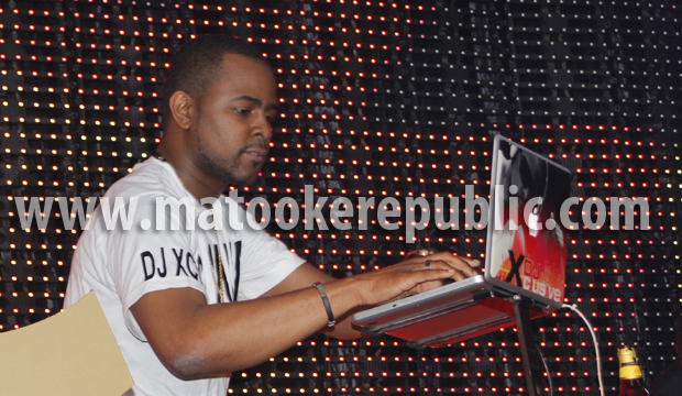"Wizkid's official DJ Xclusive. There is something about Ugandans and loving ""official DJs"". The way the girls screamed you would think he was the star of the night."