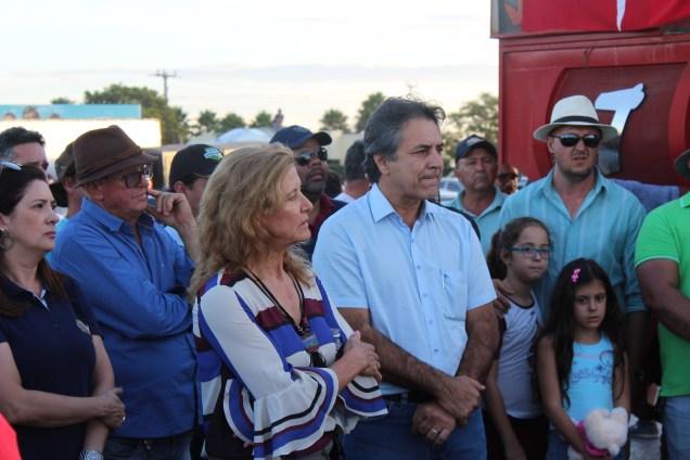 Carminha Missio, presidente do SPRLEM e o prefeito de Luís Eduardo Magalhães, Oziel Oliveira. Foto: Matopiba Agro/Túlio França