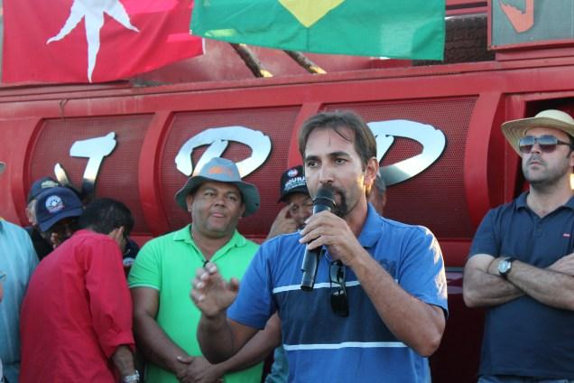 Ismael Rodrigues, caminhoneiro autônomo e uma das lideranças da greve em Luís Eduardo Magalhães. Foto: Matopiba Agro/Túlio França