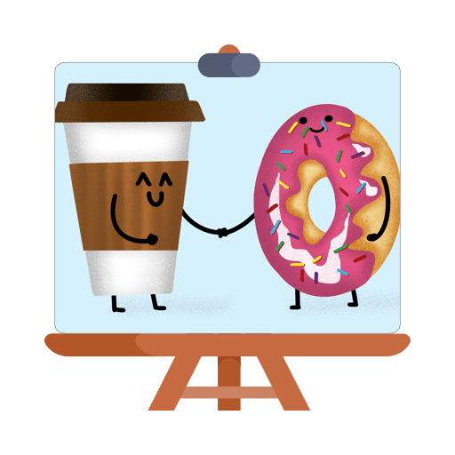 Coffee & Donut in Procreate Pocket