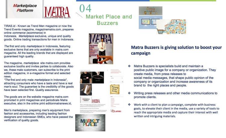"Majalah MATRA mengembangkan MARKETPLACE: ""PRIA SEJATI"""