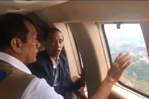 Di Atas Helikopter, Jokowi-Doni Bahas Vetiver