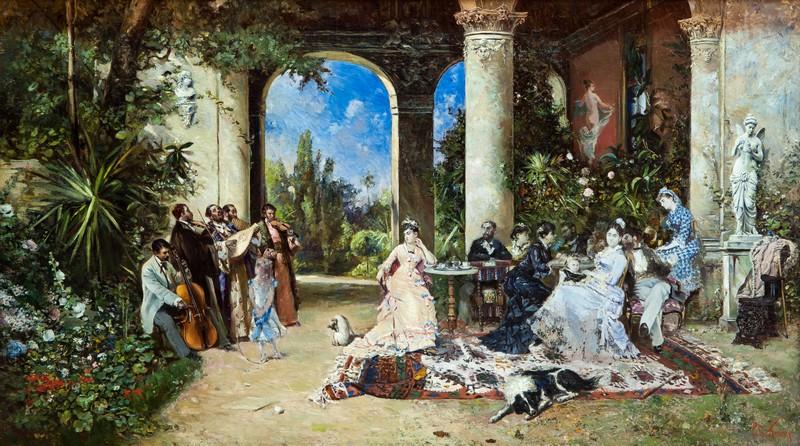 """""""Petrecere cu lăutari"""", Theodor Aman (secolul XIX) Foto: mnar.arts.ro"""