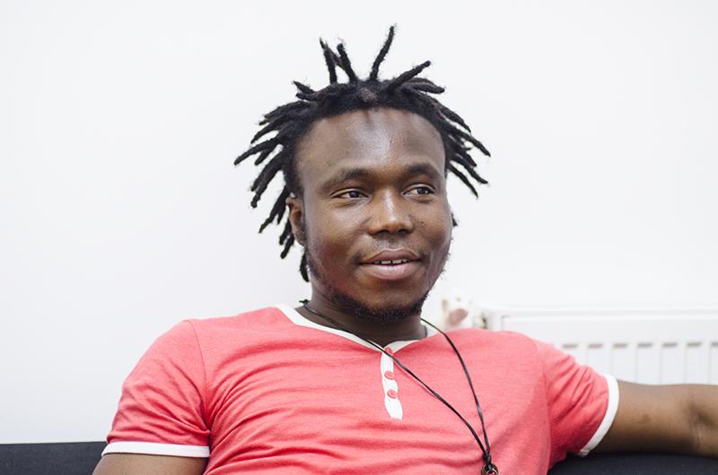 Lolo Noukpetor este cel mai tânăr dintre cei trei muzicieni care promovează cultura africană pe meleagurile noastre