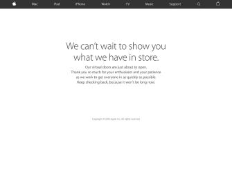 It Has Begun: Apple Store Down Ahead of iPhone SE + Smaller iPad Pro Event
