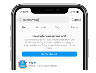 Instagram takes action to combat false coronavirus information