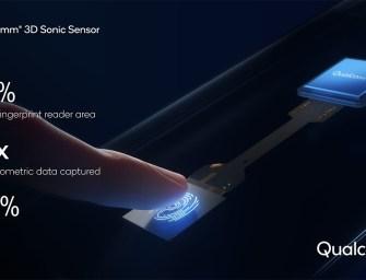 Qualcomm upgrades its sonic fingerprint sensor with faster speeds, larger surface area