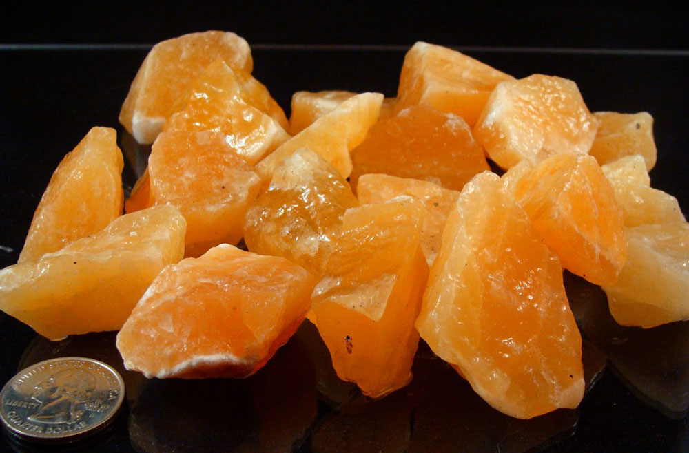 Orange-Calcite