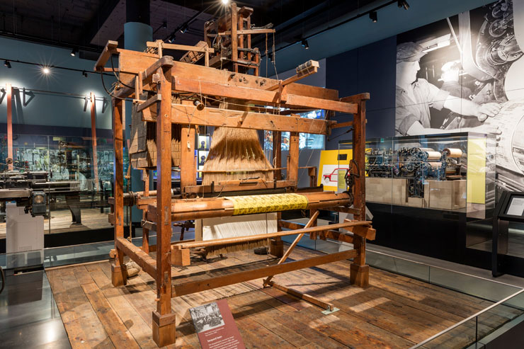 The Jacquard loom. Credit National Museums Scotland
