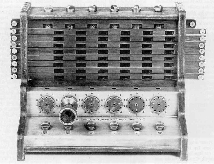 Replica of W. Schickard's calculator (1592-1635)