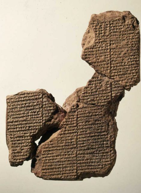 The Atrahasis, Akkadian/Babylonian epic of the Great Flood