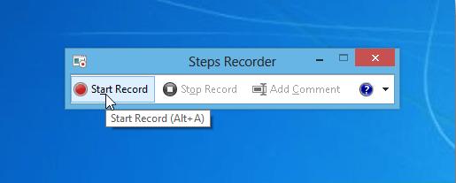 Problem Steps Recorder