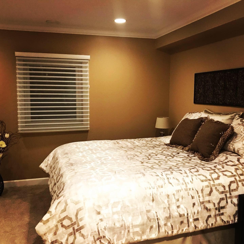 Bedroom, basement, remodel