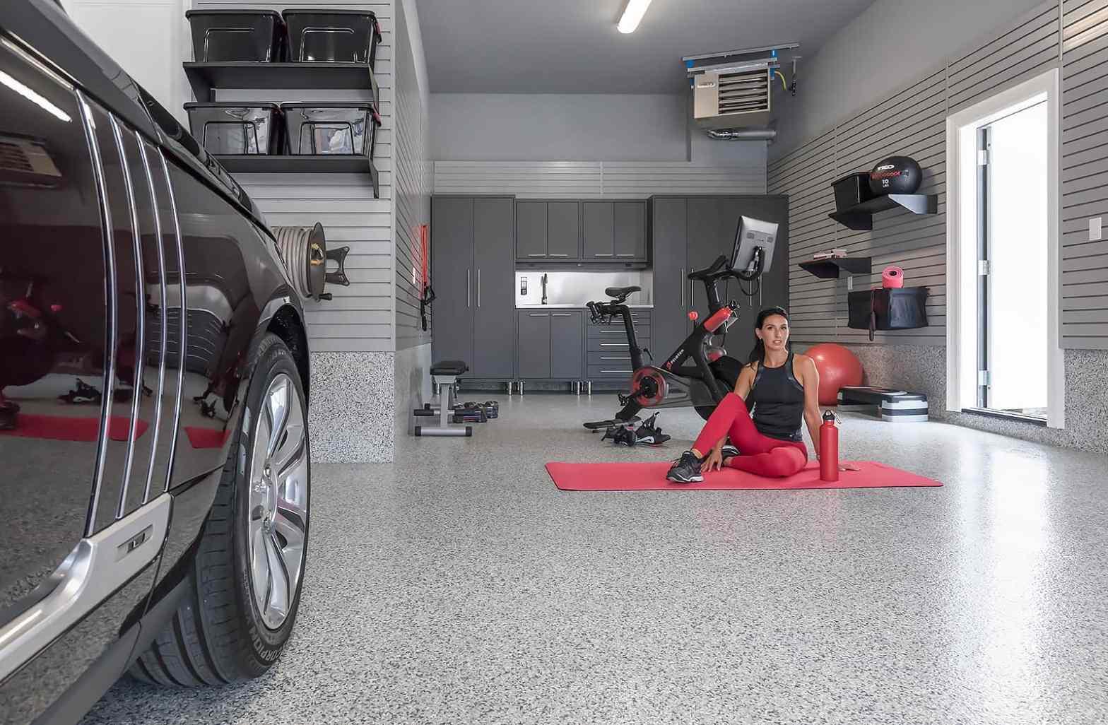 gym, garage, garage gym, remodel