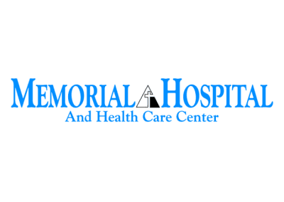 Memorial-Hospital logo, a current client.