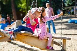 Playing on Swings
