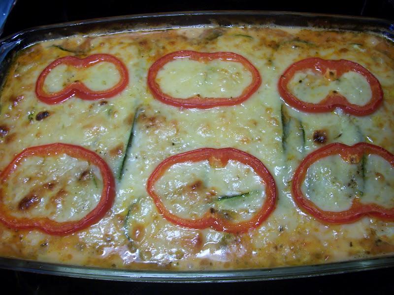 Lasagne med zucchini och fetaost Lchf