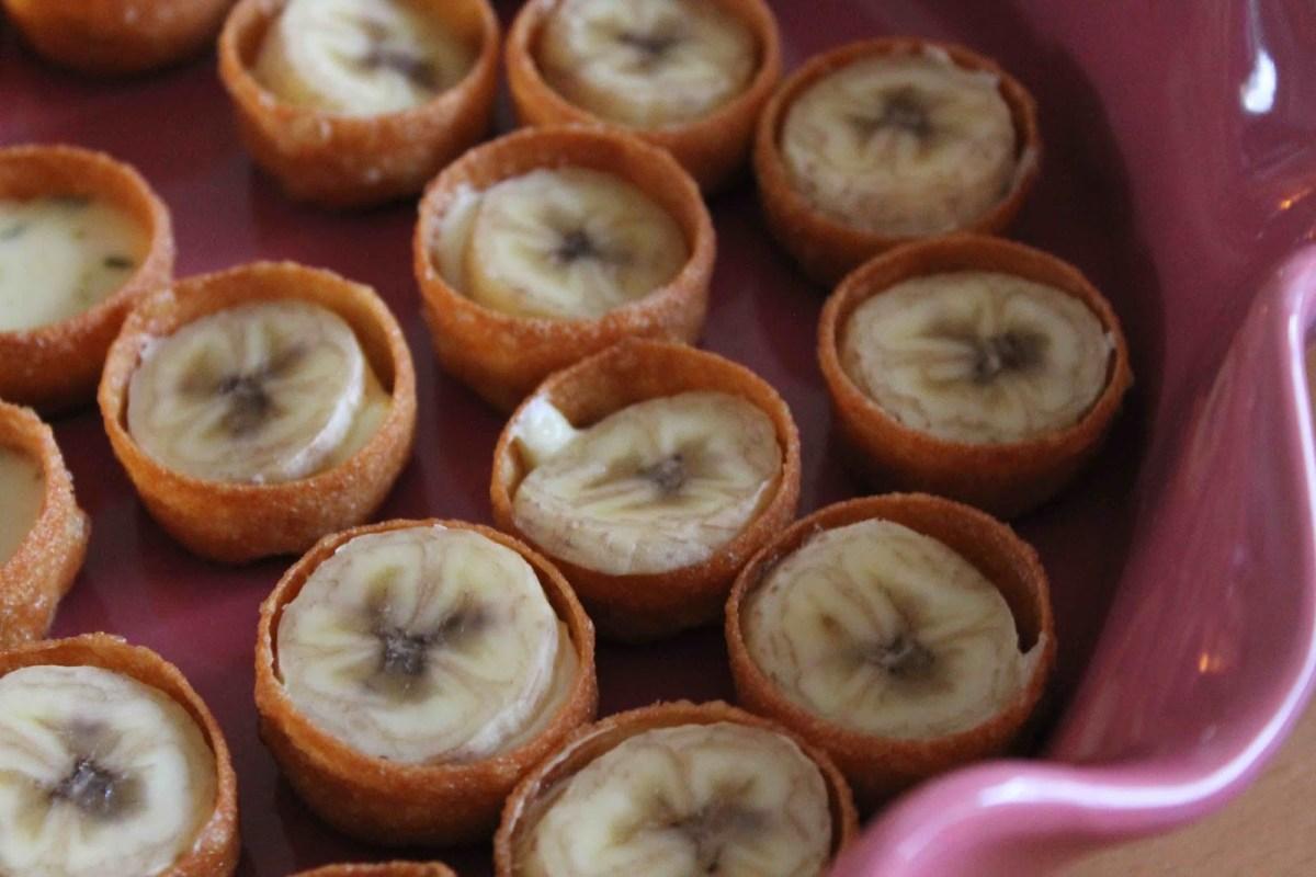 Ädelostkrustader med banan
