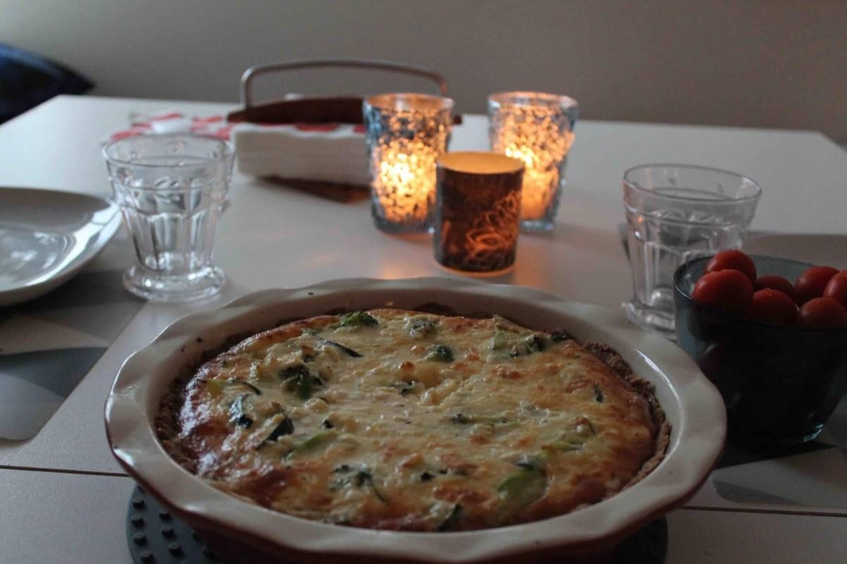 Broccoli- och zucchinipaj Lchf