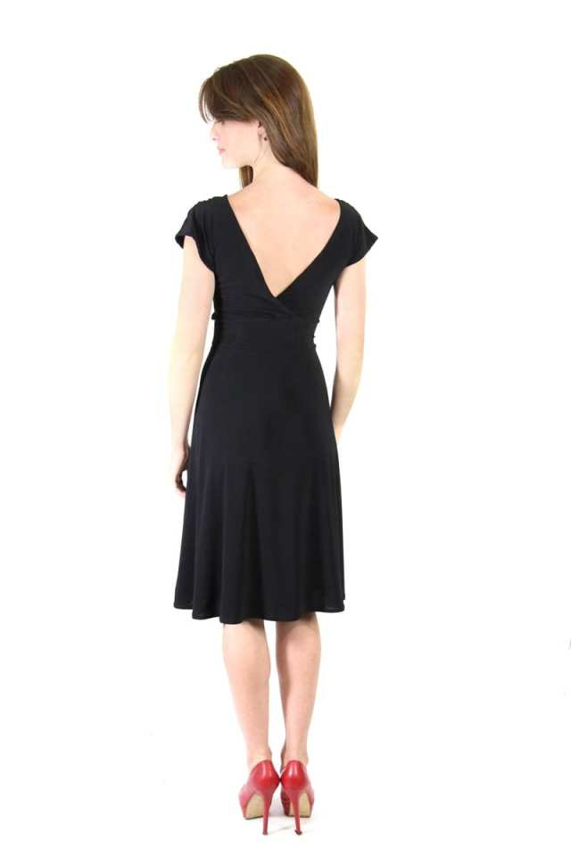 Black Knee Length Veronica Lake Dress