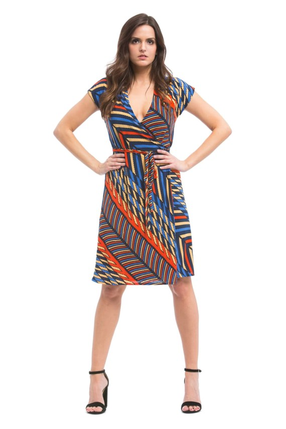 Galaga 3000 Wrap Dress