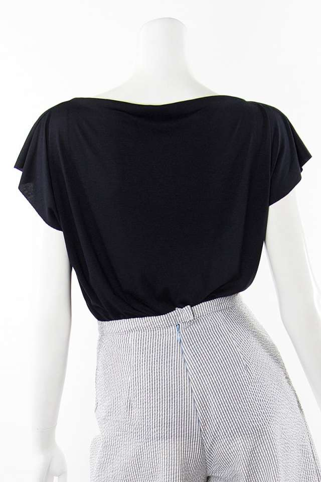 Black and White Origami T Shirt