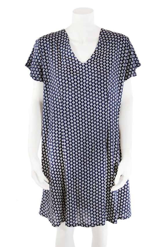 Indigo V-Neck Tunic Dress