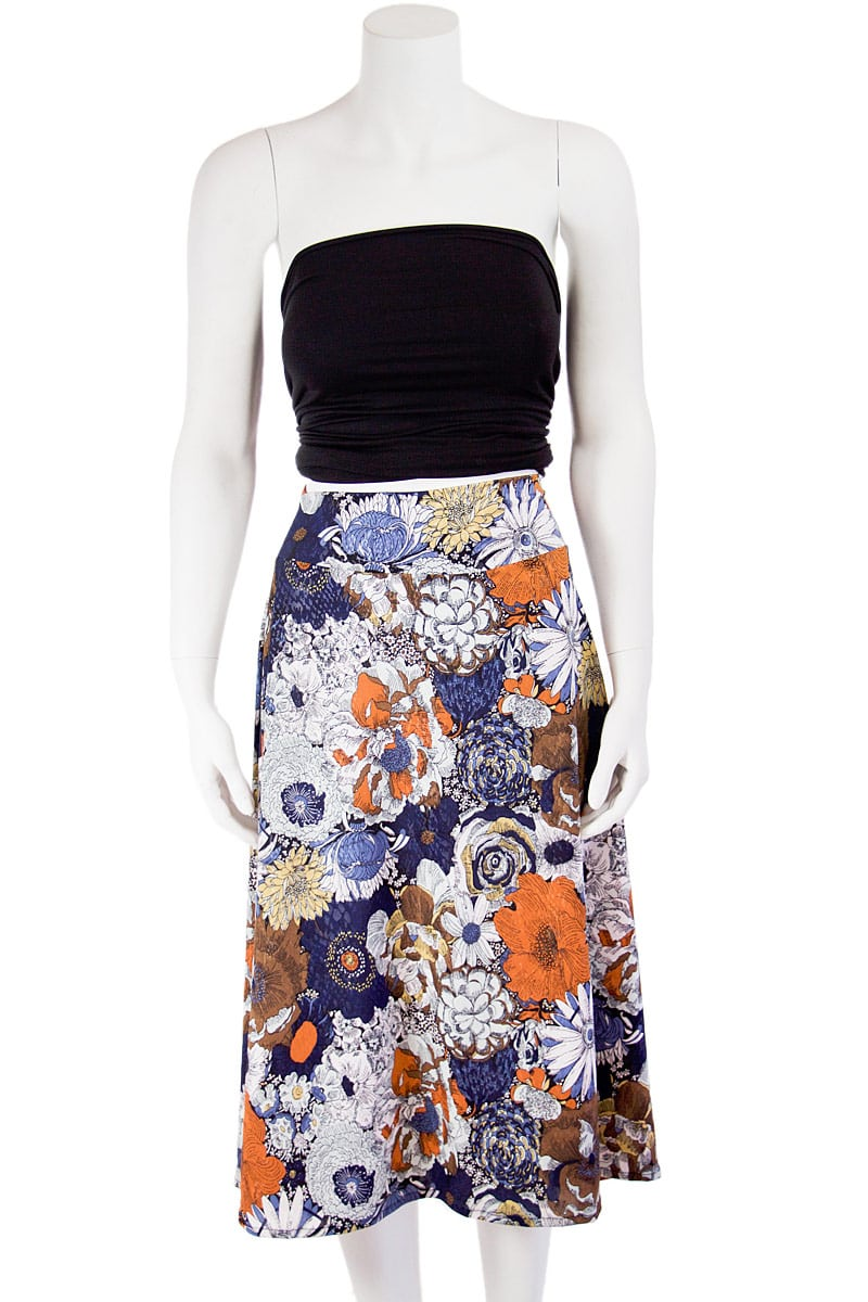 Autum Outline Midi Skirt