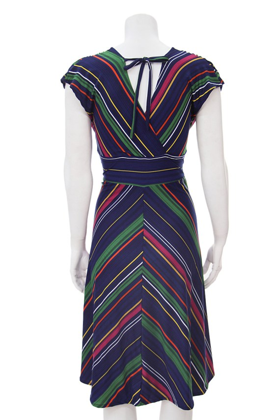 Navy Chevron Veronica Lake Dress