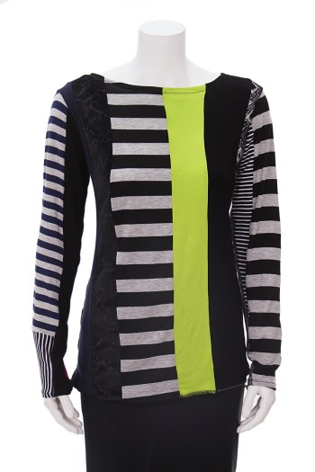 Vertical Patchwork Sweater