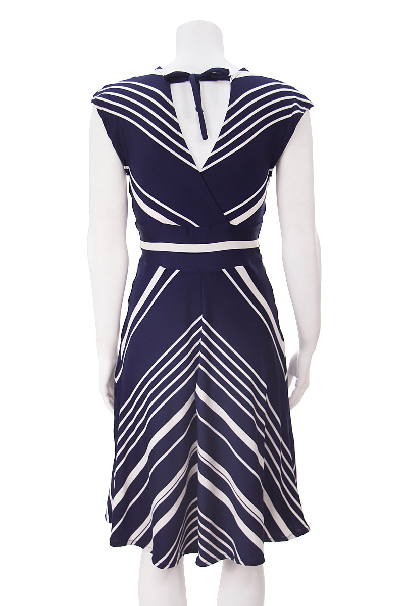 Navy and White Stripped Veronica Lake Dress