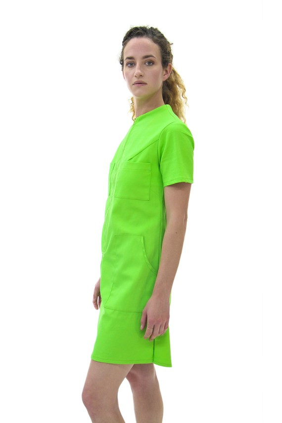 Green Neon Coverall Dress