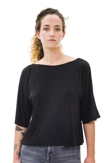 Black Dolman Sleeve Top